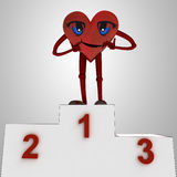 Heart figure and health victory ceremony Royalty Free Stock Images