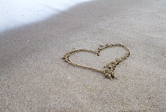 Heart figure sand Stock Photo
