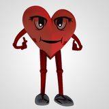 Heart figure standing with happiness. Illustration Stock Image