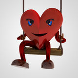 Heart figure swings for happiness Royalty Free Stock Photos