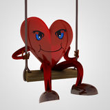 Heart figure swings on the seesaw Stock Image