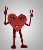 Heart figure victory happiness against disease Royalty Free Stock Photography