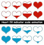 Heart fill animation vector illustration Stock Images