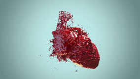 Heart filled blood Royalty Free Stock Image