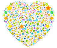 Heart filled with floral designs Royalty Free Stock Photos
