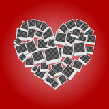 Heart filled frames for photos with transparent backgrounds on r Stock Photos