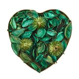 Heart filled with medley potpourri Stock Image