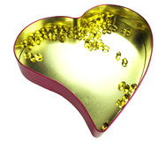 Heart filled with omega 3 Stock Photography