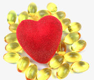 Heart filled with omega 3 Stock Images