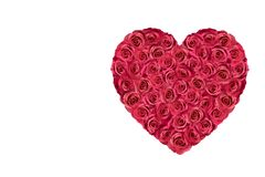 Heart filled with roses 4. Heart filled with red roses isolated on white Royalty Free Stock Images
