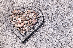 Heart filled with stones Stock Image