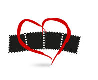 Heart and film Royalty Free Stock Photo