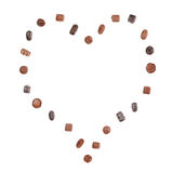 Heart of Fine Chocolates Stock Image