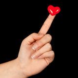 Heart on a finger Royalty Free Stock Photo