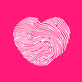 Heart Finger print. Heart Shape abstract Finger Print Heart Shape Royalty Free Stock Photo