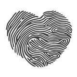 Heart Fingerprint Stock Images