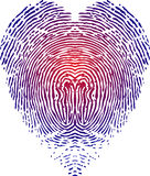 Heart fingerprint. Illustration art of a heart fingerprint with  background Stock Photos