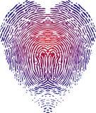 Heart fingerprint Stock Photos