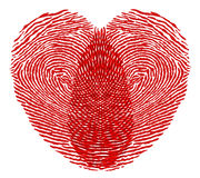 Heart fingerprint Stock Photo