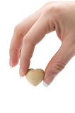 Heart in the fingers Royalty Free Stock Photography
