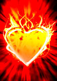 Heart on fire. The illustration heart on fire also blows up Royalty Free Stock Photography