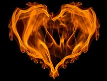 Heart on fire vector illustration