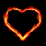 Heart in Fire royalty free stock images