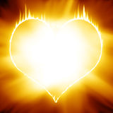Heart on fire stock illustration