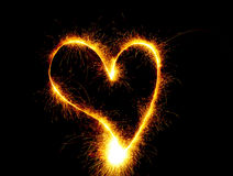 Heart fire Stock Images