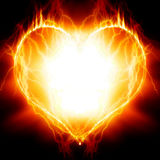 Heart on fire Royalty Free Stock Photography