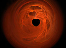 Heart on fire Stock Photo