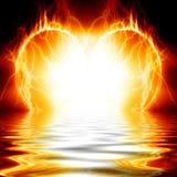 Heart on fire Stock Photos
