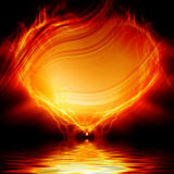 Heart on fire. On a dark background Royalty Free Stock Images