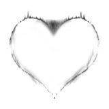 Heart on fire vector illustration
