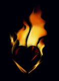 Heart_fire Royalty Free Stock Image