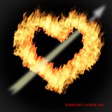 Heart of fire for the day of lovers royalty free stock images
