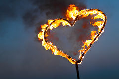 Heart of fire Royalty Free Stock Photos