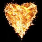 Heart of fire stock photos