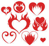 Heart. Fire Stock Photos