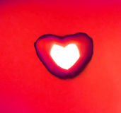 Heart of fire red. Heart of fire in red shade of ruby Stock Photography