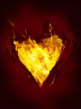 Heart on fire - Valentine'S Day Background. Heart on fire - ideal Valentine'S Day Background Royalty Free Stock Images