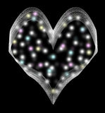 The heart with fireflies. This is an abstraction. This is the heart. It is located inside the colored balls Royalty Free Stock Image
