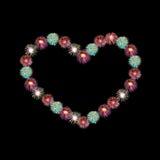 Heart firework Stock Images