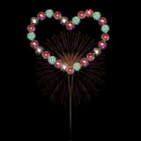 Heart firework Royalty Free Stock Images