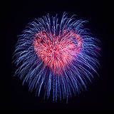 Heart from fireworks Royalty Free Stock Photo
