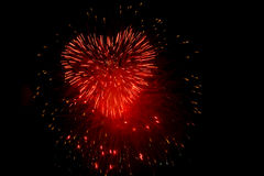 Heart fireworks royalty free stock photo