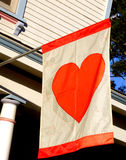 Heart Flag Royalty Free Stock Images