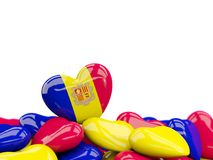 Heart with flag of andorra Royalty Free Stock Photos