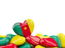 Heart with flag of cameroon Stock Photography