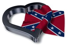 Heart and flag of the Confederate States of America Stock Photos